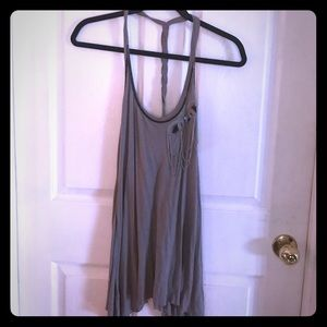 Guess size L gray t-back, strappy top